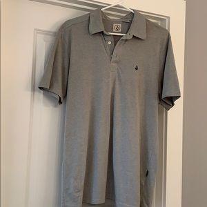 Men's Volcom Gray Polo, Size M